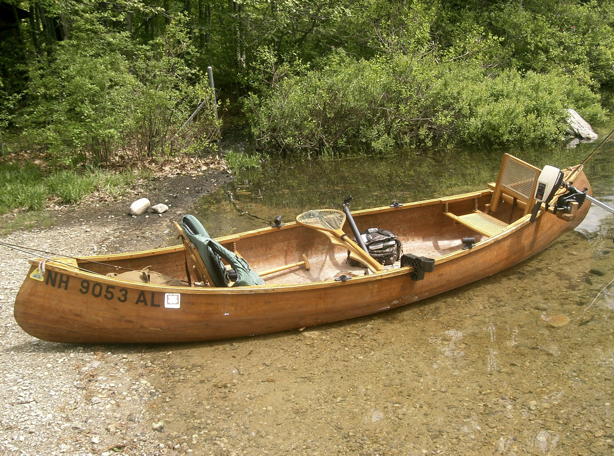 Canoe setup trout pond fishing secrets blog for Fishing canoe setup